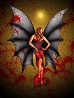 vampire with wings colored by Lycra21