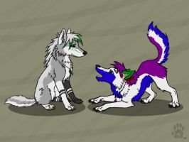 Mystic and Kham by CanineHybrid
