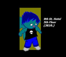 Chris the Blue Squirrel by CarrierofHeartbreak