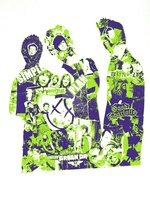 Pop punk pop art - various band collage IX by Plentiful-Pentagram
