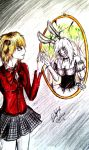 Rie/White Rabbit #1(Art Trade) by D-DCoffee