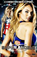 Candice Swanepoel,Lady America ,Super Angels MP by Kingofgraphics
