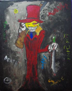Mr. Smiley Painting by Goodcat420