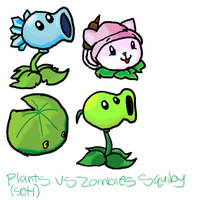 Plants vs Zombies Squibies P1 by plushietoon
