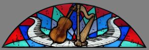 Stained glass music window by ImaginedGlass