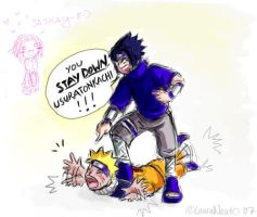 "Naruto: ""You STAY DOWN"" by lauraneato"