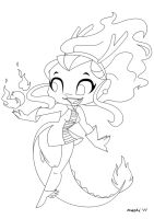 Dragon Girl Lines by mashi