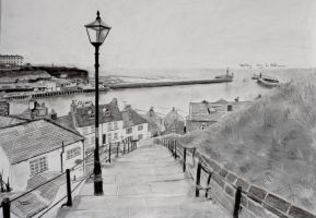 Charcoal sketch of Whitby. by astrogoth13