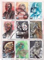 Star wars Galaxy 6 sketch card by kohse