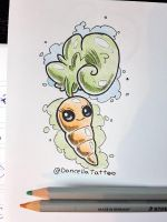 Tattoo Design: Cute Carrot by MySweetQueen