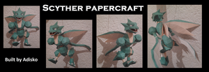 Scyther Pokemon papercraft by Adisko