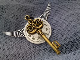 Steampunk Clock Pendant by karla-chan