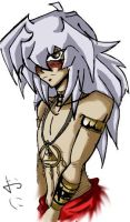 bakura in egypt clothings by oni-shi