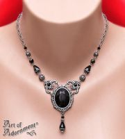 Nocturne Rhinestone Necklace by ArtOfAdornment