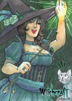 Witchcraft Sketch Card - Danielle Ellison 1 by Pernastudios
