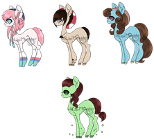 Themed MLP adopts by Nightmares-Adopts
