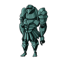 Bluish Greenish Knight by crazymoh11