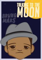 Bruno Mars Talking to the Moon by doodlerealm