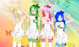 MMD Newcomer: Colorful Riot Quartet by ChocolateMeru