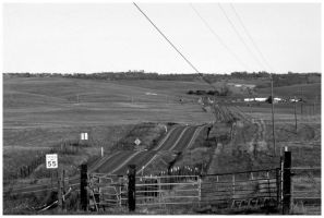 Country Road - Black and White by Bloody-Medium
