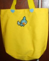 X-Stitch Tote Bag- Mudkip by missy-tannenbaum