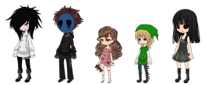 Creepypasta Chibis by MisbegottenMisfit