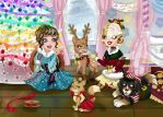 Christmas Pet Dressup by Jade-the-Tiger