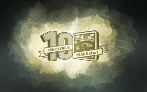 deviantART 10th Birthday Walls by endosage