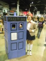 Chicago ComicCon 2014 - 11th Doctor And Tardis by InsaneSpyro