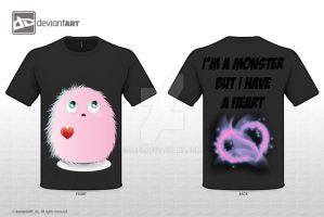 I'm a monster but i have a heart by iHip2