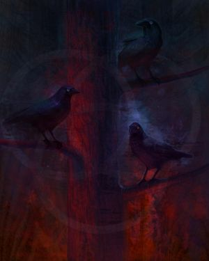 Three Crows by Sirenophilia