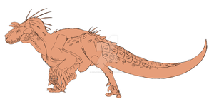 My own Hybred Dino (guess what it is made up of) by DeeJaysArt1993