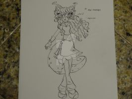 Lineart~ Kaya-Snapdragon by Icefire1200