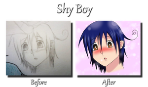 Shy Boy - Before and After by tabbycat1212
