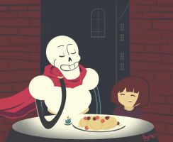 Date with Papyrus by dansetsu