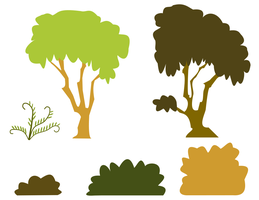 Everfree Forest Plants by dutchscout