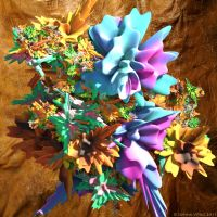 Cave flowers by Fractal-Kiss