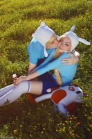 AT - Finn and Fionna - A kiss by MilliganVick