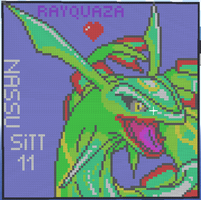 Rayquaza in Minecraft by NassuArt