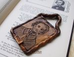 EDGAR ALLEN POE HAND CARVED POLYMER CLAY PORTRAIT by Graphix-Goddess