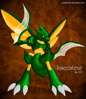 Pokemon -123 Scyther- by Junleashed