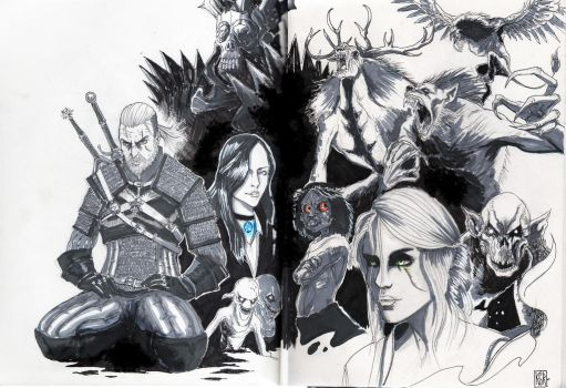 Fan Art The witcher III wild Hunt by ksrp2v