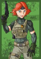 MGS4 - Meryl by AntManTheMagnif