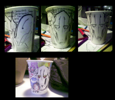 Grievous Papercup sketches by theREDspy