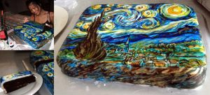 Starry Starry Night cake by TamiTw