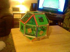 Geomag model - group 2C - Rhombicuboctohedron by LevelInfinitum