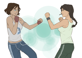 Sparring partners by The-DarkBunny