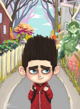ParaNorman- Walking to School by amy-liu