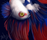 Fish Speed Painting by valdrianth