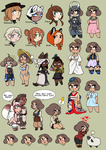 EE - A whole lot of chibis by 3712